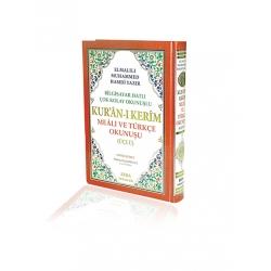 Kur'an-ı Kerim Meali ve Türkçe Okunuşu(üçlü)  Rahle Boy 20 x 28 cm