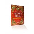 Kur'an-ı Kerim Renkli Türkçe Okunuşlu Rahle Boy 20 x 28 cm