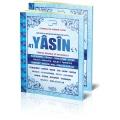 fihristli orta boy 192 sayfa mavi renkli türkçe okunuşlu ,arapça ,ve mealli yasini yerif
